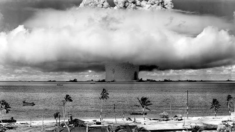 Nuclear weapon in action