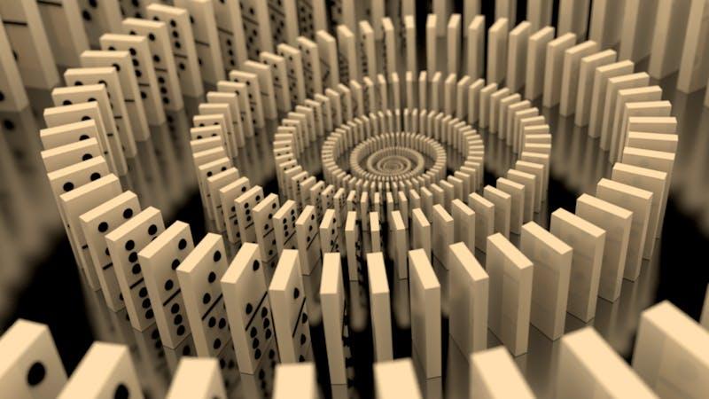 Den ene dominobrikken