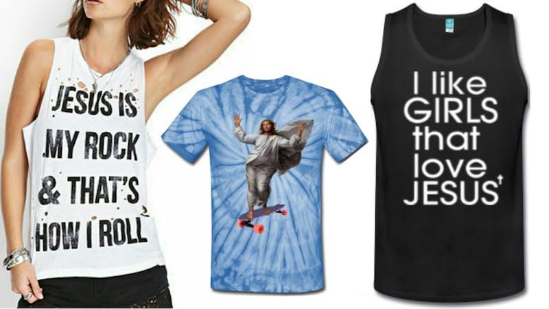 De 16 definitivt feteste kristne t-skjortene noensinne