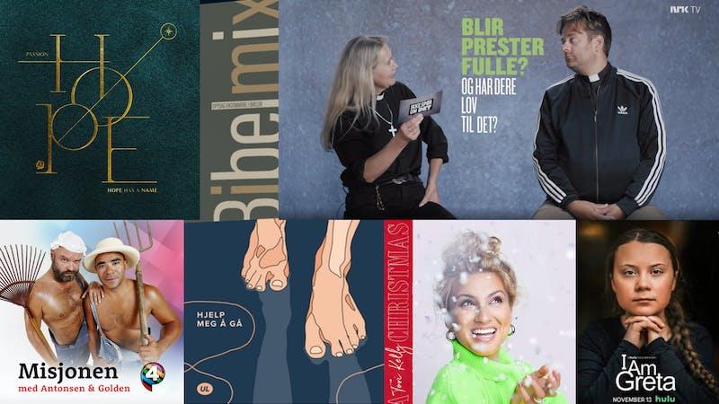 Ny julemusikk, kristne festivalvideoer, ny UL-låt og prester på NRK